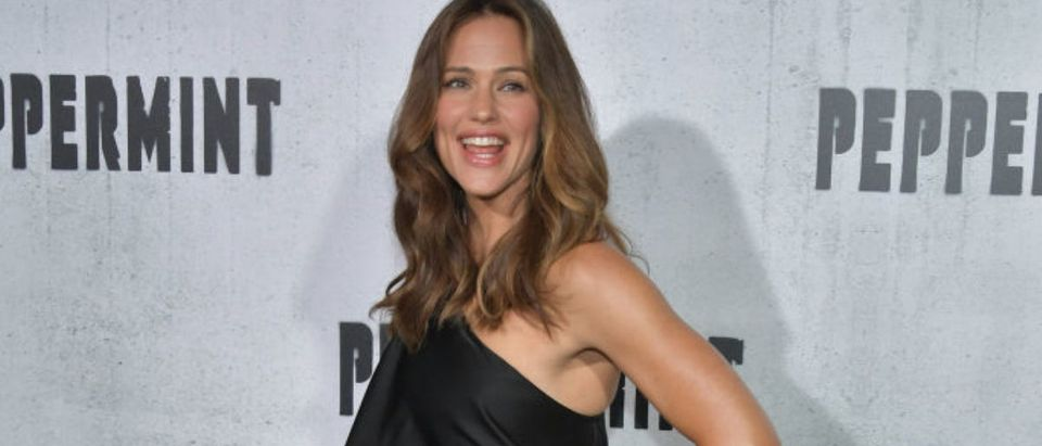 Jennifer Garner attends the premiere of STX Entertainment's 'Peppermint' at Regal Cinemas L.A. LIVE Stadium 14 on August 28, 2018 in Los Angeles, California. (Photo by Neilson Barnard/Getty Images)
