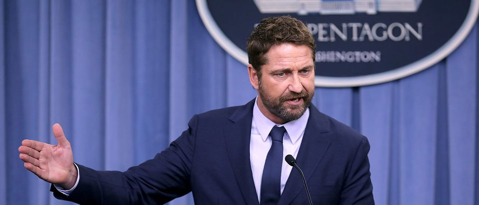Actor Gerard Butler Discusses His New Film About Navy Attack Submarine Crew At The Pentagon