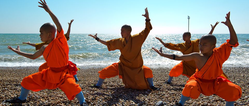 Shaolin Monks Rehearse Ahead Of Their New Show