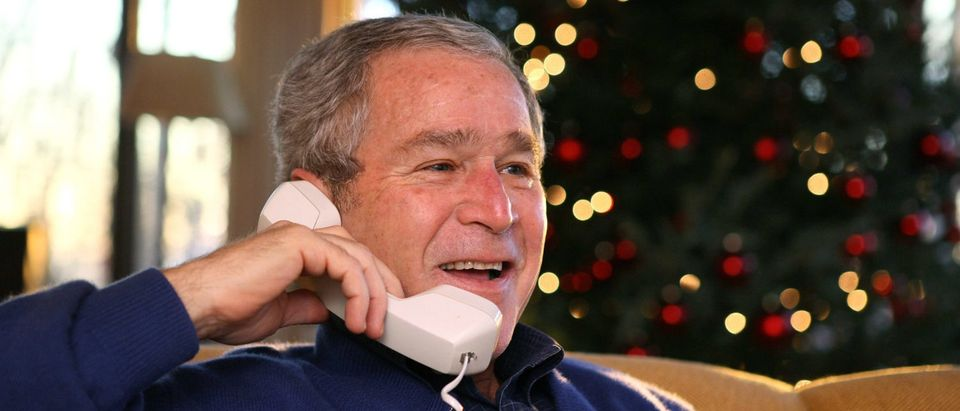 Bush Spends Christmas At Camp David