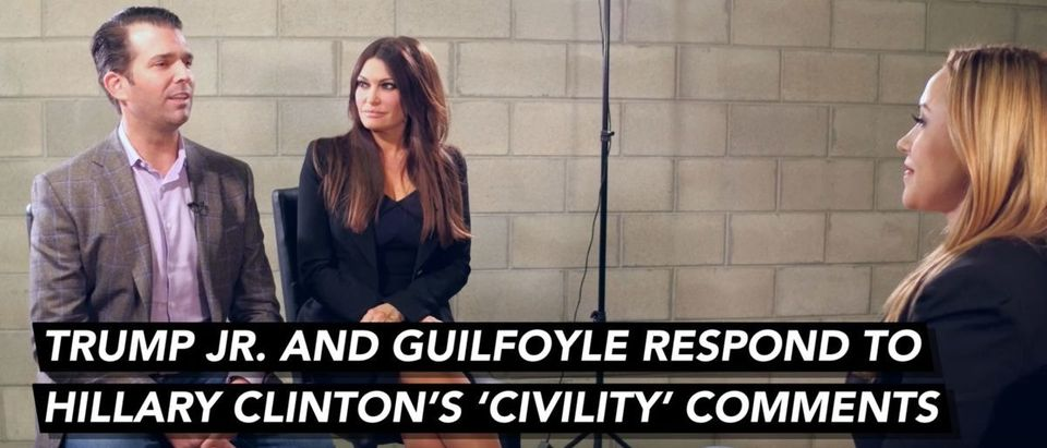 Donald Trump Jr. Kimberly Guilfoyle sit down with the Daily Caller