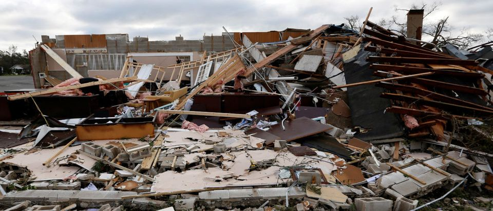 Buildings damaged by Hurricane Michael are seen in Panama City
