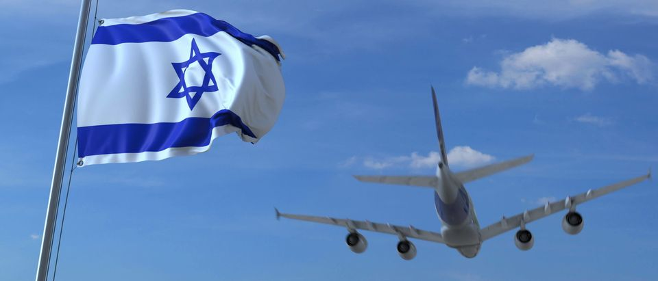 Israeli Flag and airplane
