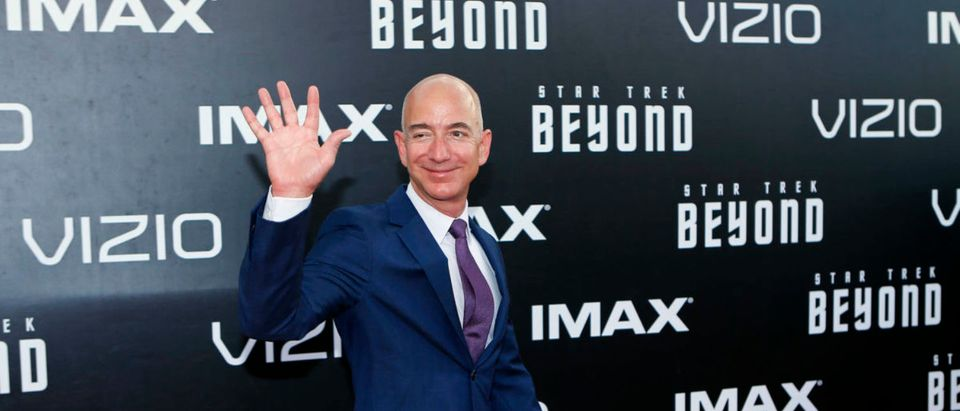 "Jeff Bezos arrives for the world premiere of ""Star Trek Beyond"" in San Diego"