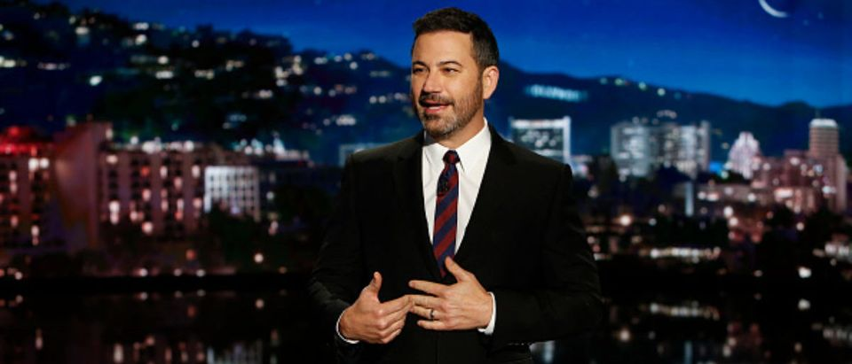 "JIMMY KIMMEL LIVE! - ""Jimmy Kimmel Live!"" airs every weeknight at 11:35 p.m. EDT and features a diverse lineup of guests that include celebrities, athletes, musical acts, comedians and human interest subjects, along with comedy bits and a house band. The guests for Wednesday, October 3 included Ryan Gosling (""First Man""), Dana White (UFC 229), and stand up by Devin Field. (Randy Holmes via Getty Images)"