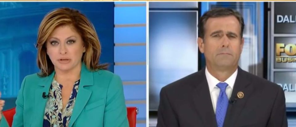 Texas Rep. John Ratcliffe speaks with Fox News' Maria Bartiromo, Oct. 14, 2018. (YouTube screen grab/Fox News)