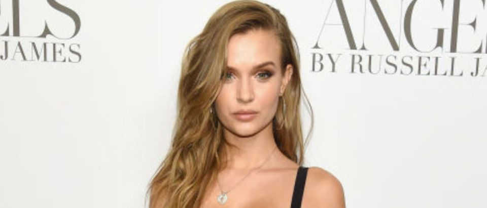 """Josephine Skriver attends the """"ANGELS"""" by Russell James book launch and exhibit hosted by Cindy Crawford and Candice Swanepoel at Stephan Weiss Studio on September 6, 2018 in New York City. (Photo by Dimitrios Kambouris/Getty Images)"""