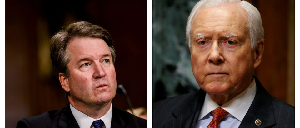 Judge Brett M. Kavanaugh testifies in front of the Senate Judiciary committee regarding sexual assault allegations at the Dirksen Senate Office Building on Capitol Hill in Washington DC, U.S., September 27, 2018. Gabriella Demczuk/Pool via REUTERS/.Chairman of the Senate Finance Committee Orrin Hatch (R-UT) listens as Alex Azar II testifies on his nomination to be Health and Human Services secretary in Washington, U.S., January 9, 2018. REUTERS/Joshua Roberts.