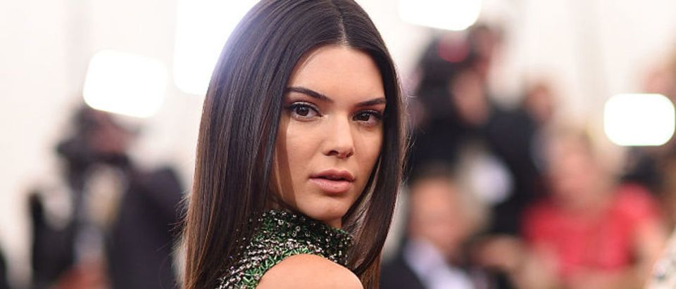 """Kendall Jenner attends the """"China: Through The Looking Glass"""" Costume Institute Benefit Gala at the Metropolitan Museum of Art on May 4, 2015 in New York City. (Photo by Dimitrios Kambouris/Getty Images)"""