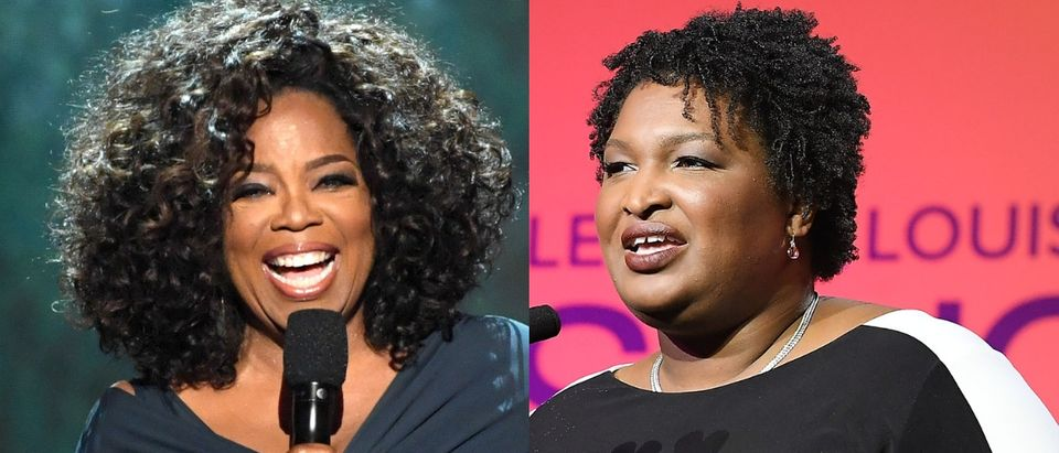 Georgia Democratic gubernatorial candidate Stacey Abrams announced Oct. 31, 2018, that Oprah Winfrey will join her on the campaign trail. Kevin Winter/Getty Images and Paras Griffin/Getty Images for Essence