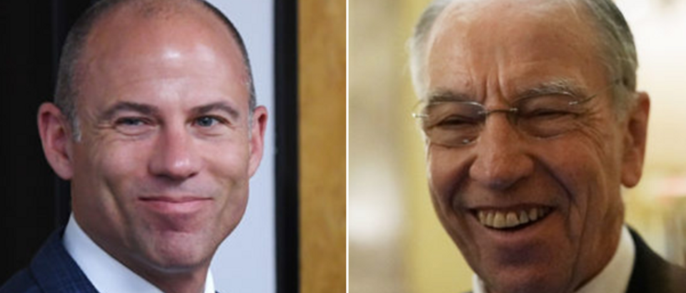 Left Michael Avenatti (Ethan Miller-Getty Images) Right Chuck Grassley (Alex Wong-Getty Images)
