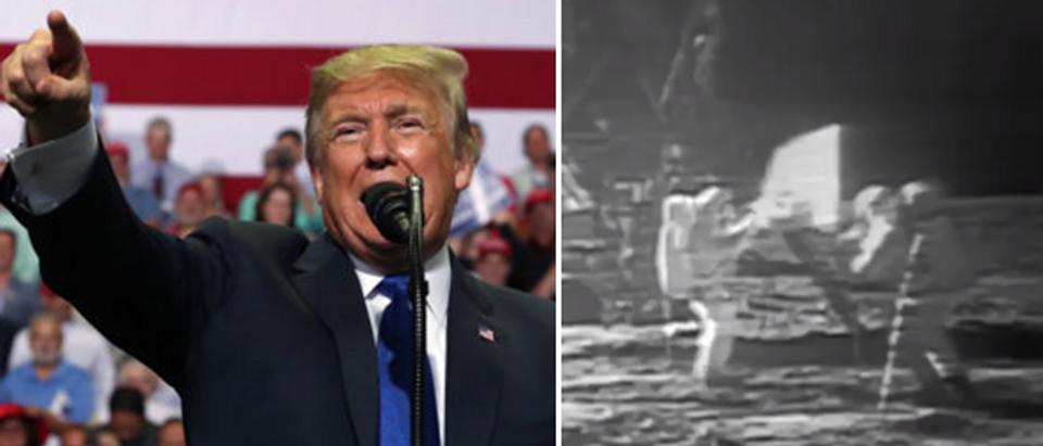 Left - President Trump (REUTERS Jonathan ERNST) Right - screengrab