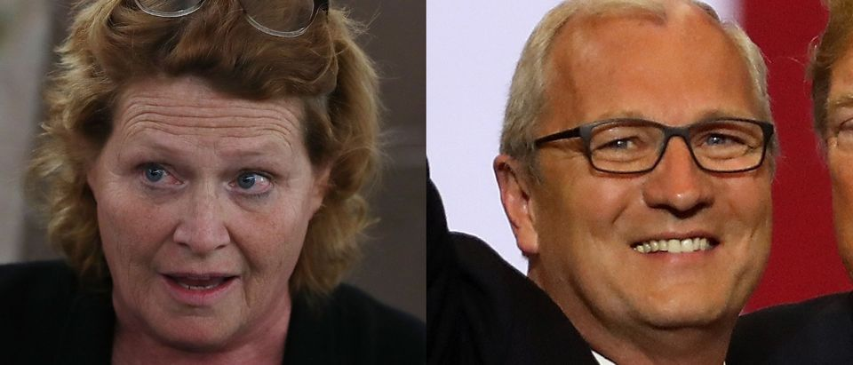 Heidi Heitkamp will face challenger Kevin Cramer in the November elections. Mark Wilson/Getty Images and Justin Sullivan/Getty Images