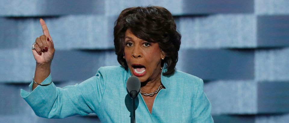 Representative Maxine Waters speaks on the third day of the Democratic National Convention in Philadelphia