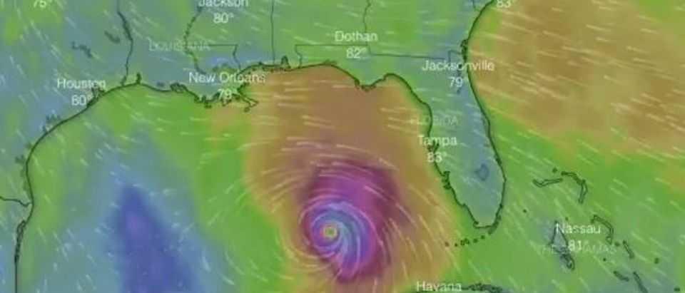 Pictured is a snapshot of Hurricane Michael as it heads toward Florida Panhandle. (YouTube picture WaPo Tracker)