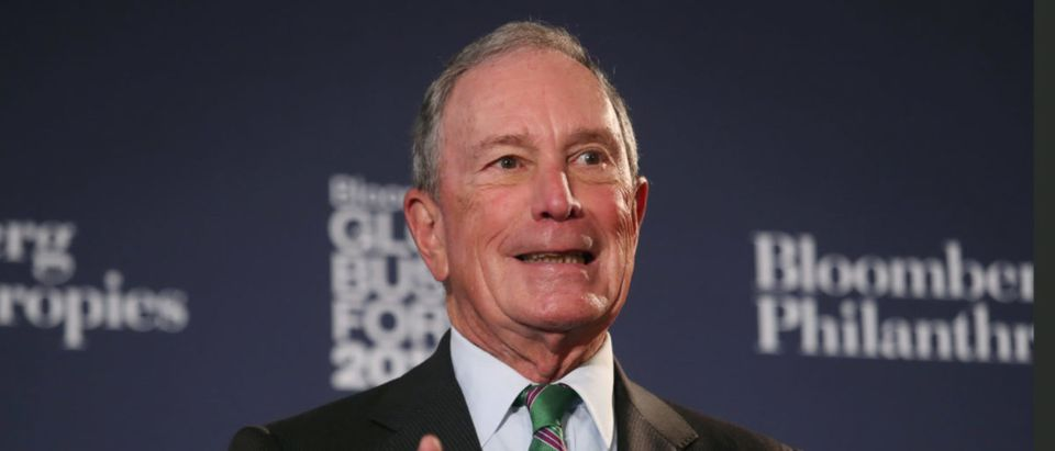 Former New York City Mayor Michael Bloomberg speaks at the Bloomberg Global Business forum in New York