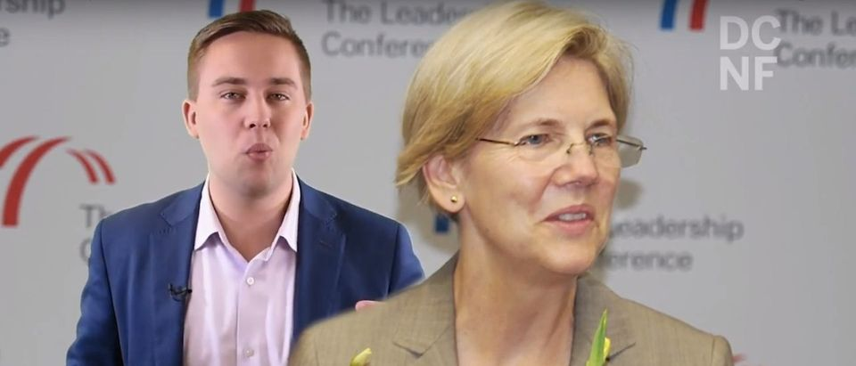 Democratic Senator Elizabeth Warren dropped a bombshell ancestry report Monday. She thought it was going to fall on President Trump -- It didn't. (Screenshot/YT/DCNF)