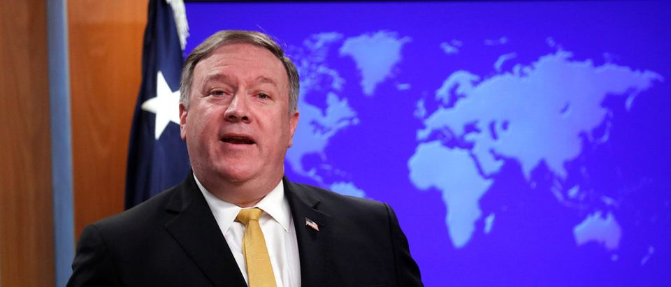 U.S. Secretary of State Pompeo speaks at the State Department in Washington
