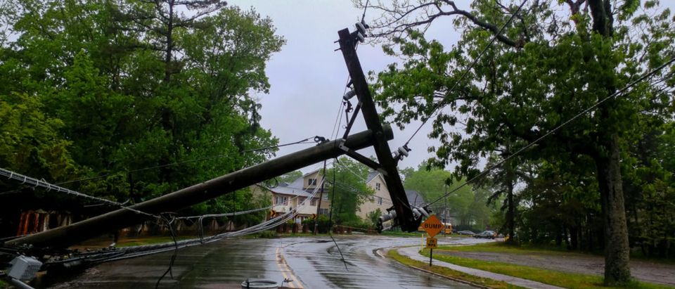 Downed power line. Shutterstock