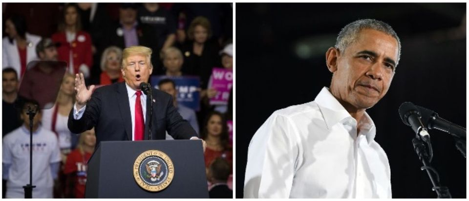 President Obama and President Trump (LEFT: Loren Elliott/Getty Images RIGHT: Ethan Miller/Getty Images)