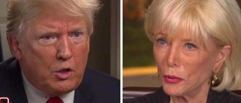 President Trump Lesley Stahl (CBS screengrabs)