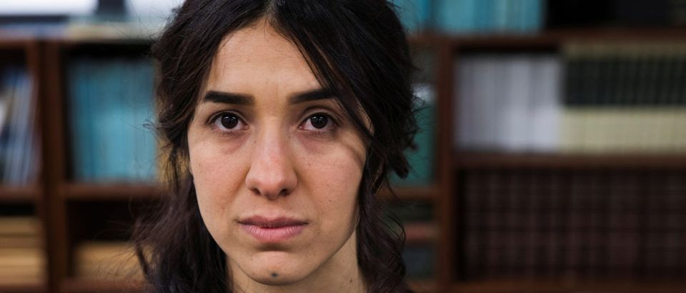 Yazidi survivor Nadia Murad poses for a portrait at United Nations headquarters in New York, U.S., March 9, 2017. REUTERS/Lucas Jackson/File Photo