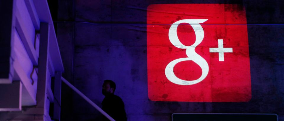 The Google Plus logo is projected on to the wall during a Google event in San Francisco, California, October 29, 2013. REUTERS/Beck Diefenbach