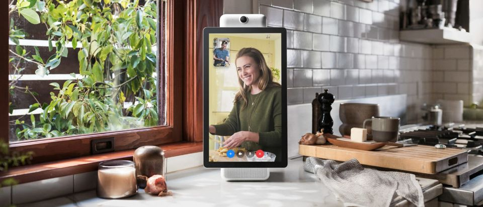 A smart speaker device by Facebook Inc. called Portal+ is shown in this photo released by Facebook Inc. from Menlo Park, California, U.S., October 5, 2018. Courtesy Facebook Inc./Handout via REUTERS.