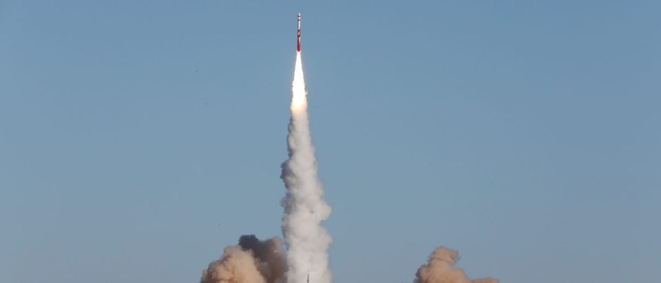 Zhuque-1, a privately developed Chinese carrier rocket by Beijing-based Landspace, lifts off from the launch pad at Jiuquan Satellite Launch Center in Gansu