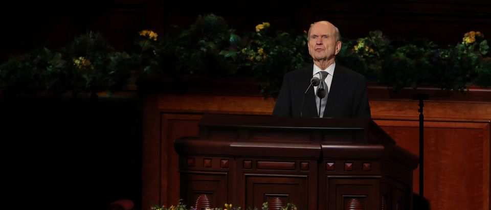 Russell M. Nelson speaks during the funeral for Thomas S. Monson, President of the Mormon Church, in Salt Lake City