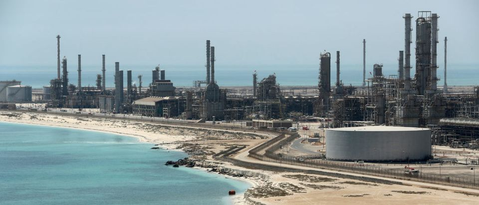 General view of Saudi Aramco's Ras Tanura oil refinery and oil terminal in Saudi Arabia