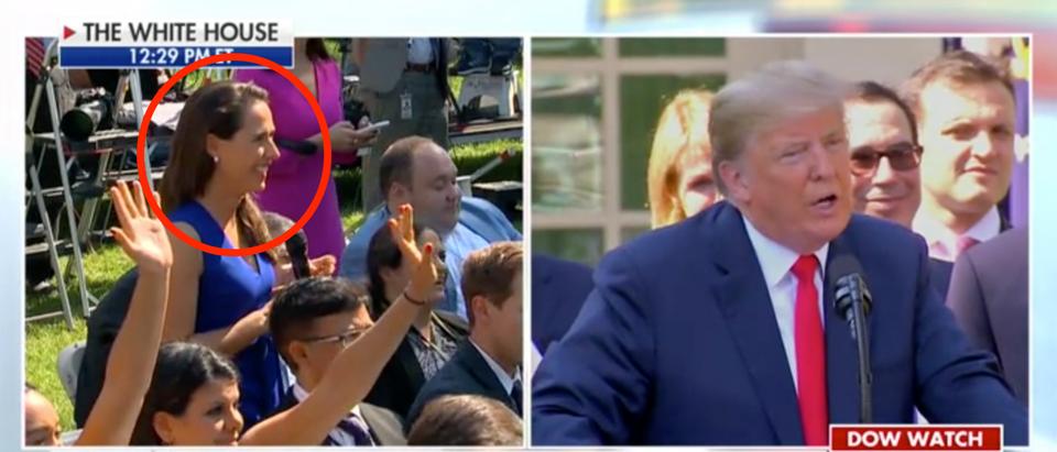 Trump Flips The Script On Reporter Who Asks If He Has Any Dirt On Senate Democrats / Fox screenshot