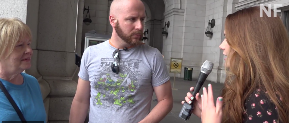 People outside the Columbus fountain near Union Station in Washington, D.C., told The Daily Caller News Foundation what they thought about Columbus, Ohio deciding to stop their celebration of the man their city is named after. (Youtube)