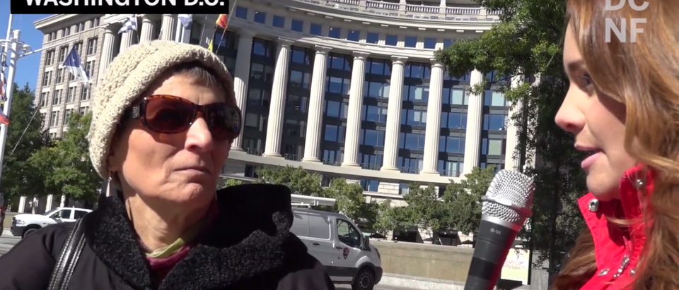 People on the streets of D.C. told TheDCNF whether or not they'd be fine with letting a caravan of migrants from Central America enter into the United States. (YouTube/TheDCNF)