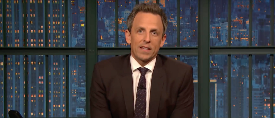 Seth Meyers on Late Night on October 29, 2018 (photo: screenshot/NBC)