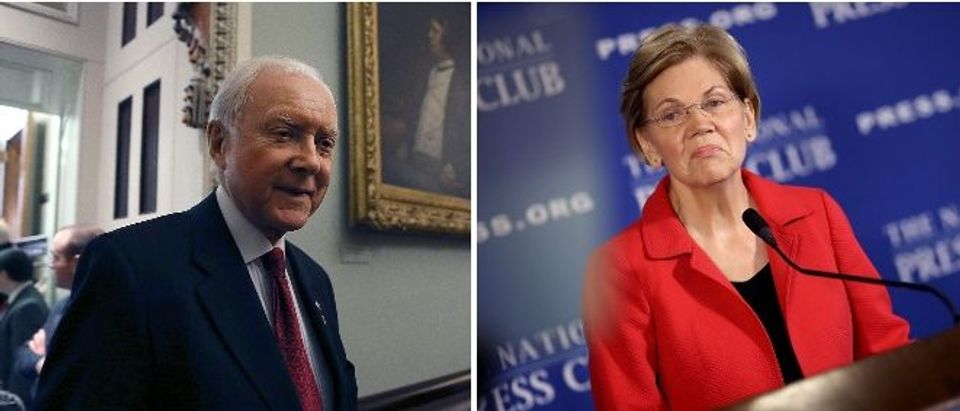 Senator Orrin Hatch and Senator Elizabeth Warren (LEFT: Mark Wilson/Getty Images RIGHT: Win McNamee/Getty Images)