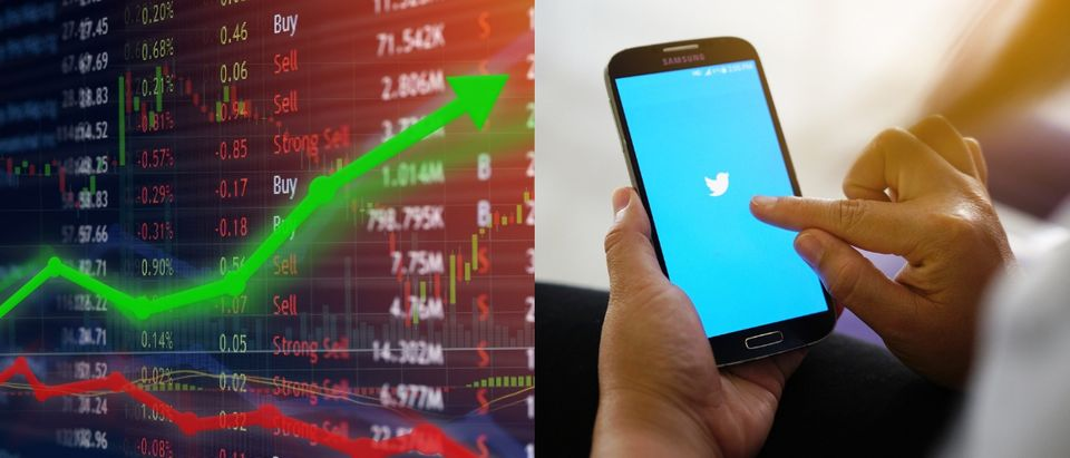Twitter stocks shot up despite decreased monthly active users in the third quarter of 2018. Shutterstock images via users Travis Wolfe (L) and nopporn (R)