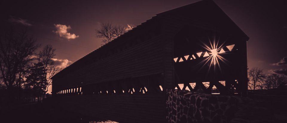 Gettysburg haunted bridge (Shutterstock/ Timothy Robert Weikert)