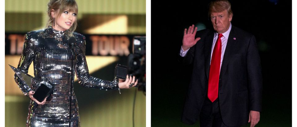 Usually apolitical pop star Taylor Swift delved into the tumultuous waters of political discourse on Sunday when she released an Instagram post urging voters to register in Tennessee and vote against Republican Rep. Marsha Blackburn. (Getty Images)