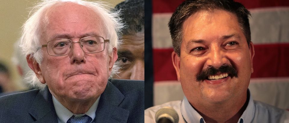 Former presidential candidate Bernie Sanders stumped for Wisconsin Democratic congressional candidate Randy Bryce Oct. 22, 2018. Tasos Katopodis/Getty Images and Scott Olson/Getty Images