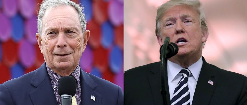 Michael Bloomberg (left) could challenge President Donald Trump (right) in 2020. Tim P. Whitby/Getty Images for Serpentine Galleries (L) and Chip Somodevilla/Getty Images (R)