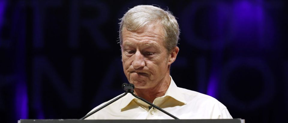 Tom Steyer speaks at the Netroots Nation annual conference for political progressives in New Orleans