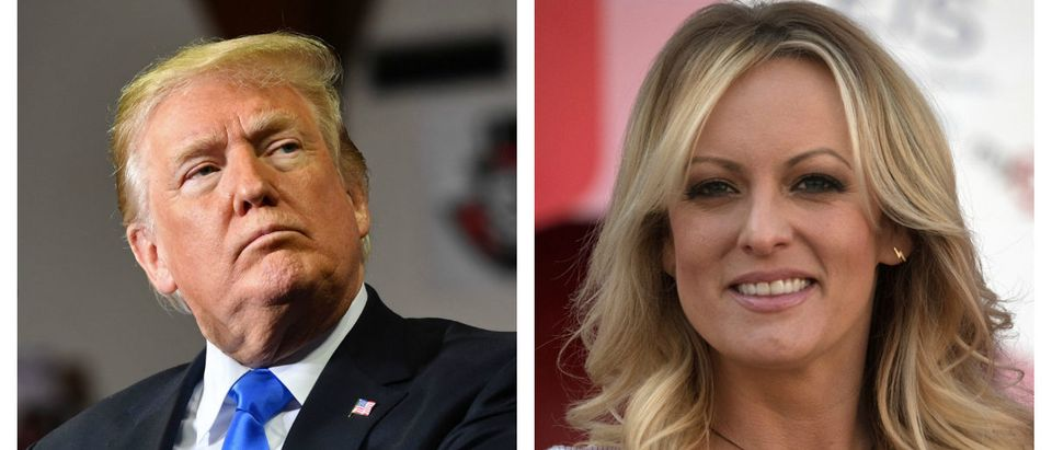 Trump Stormy Daniels Side By Side -- Getty Images - Nicholas Kamm and Ralf Hirschberger