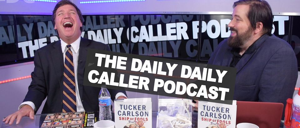 Tucker Carlson appears on The Daily Daily Caller Podcast in an interview published Friday, Oct. 12, 2018. (Photo: Screenshot/The Daily Caller Video)