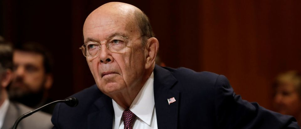 U.S. Commerce Secretary Wilbur Ross testifies before a Senate Commerce, Justice, Science, and Related Agencies Subcommittee holds a hearing on the FY2019 funding request and budget justification for the Commerce Department on Capitol Hill in Washington, U.S., May 10, 2018. REUTERS/Yuri Gripas