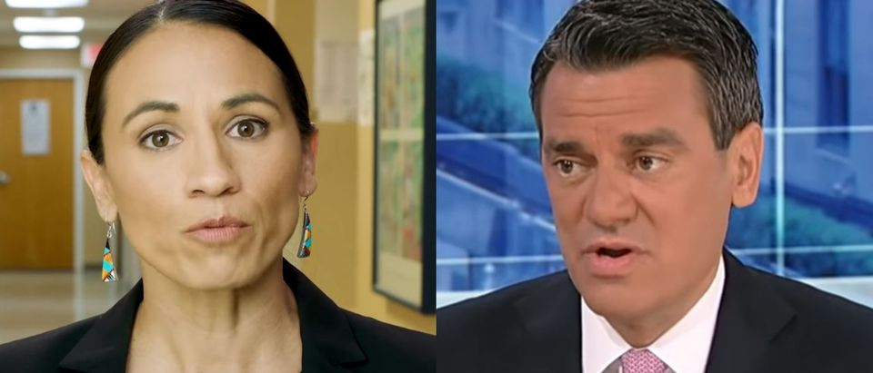 Sharice Davids (L) is challenging Kevin Yoder (R) in Kansas's 3rd Congressional District. (Photos: YouTube screenshot/ Sharice for Congress and YouTube screenshot/Fox News Insider)