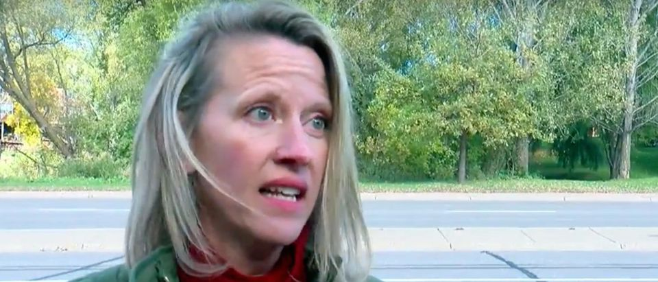 MN GOP Rep Sarah Anderson says she was attacked while campaigning./Screenshot