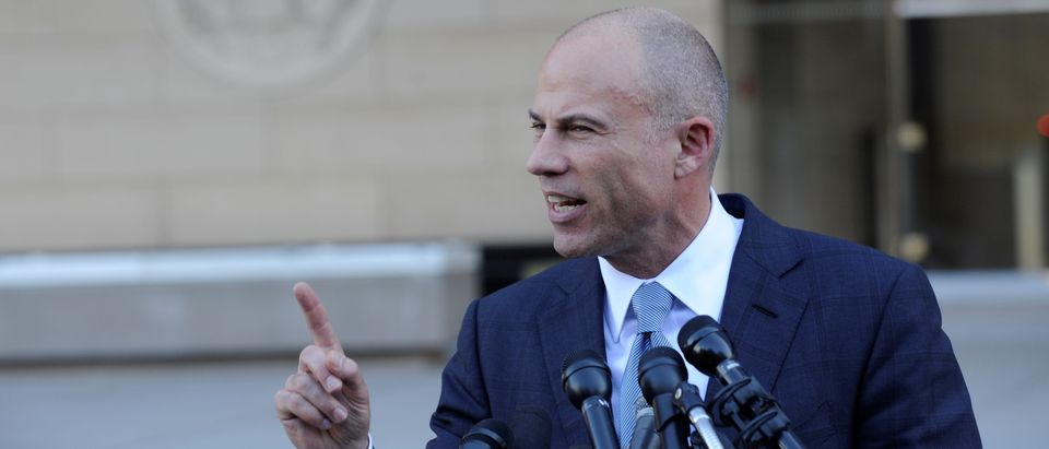 Michael Avenatti, lawyer for adult film actress Stephanie Clifford, also known as Stormy Daniels, speaks to the media outside the U.S. District Court for the Central District of California. September 24, 2018. REUTERS/Andrew Cullen