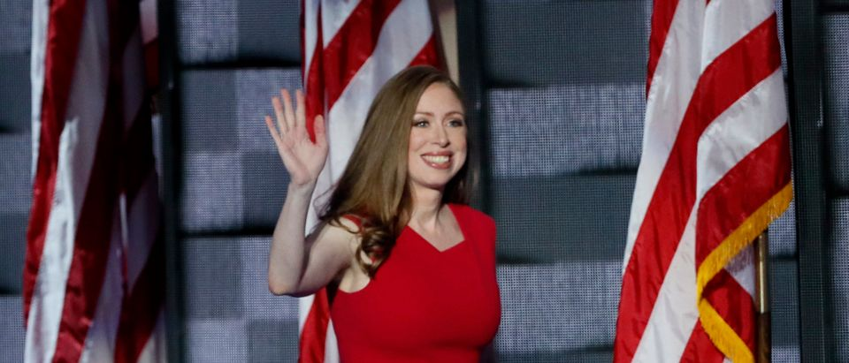 Chelsea Clinton, daughter of Democratic U.S. presidential nominee Hillary Clinton, takes the stage to introduce her mother on the final night of the Democratic National Convention in Philadelphia, Pennsylvania, U.S. July 28, 2016. REUTERS/Mike Segar