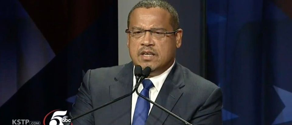 Keith Ellison misled the public about his ties to Louis Farrakhan during the Minnesota attorney general debate Photo: Screenshot/KSTP